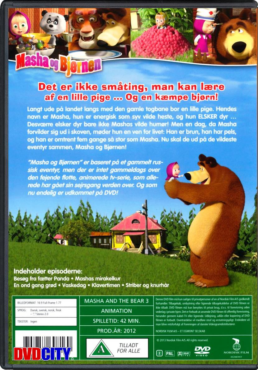 masha og bjørnen dansk dvd