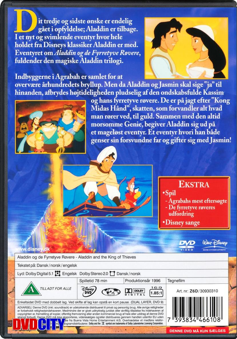 Aladdin Og De Fyrretyve Røvere Nr 3 1996 Videolanddk